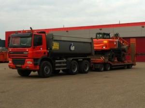 Semi-dieplader met 30 ton laadvermogen